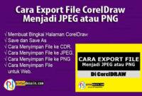 Cara Export File CorelDraw menjadi JPEG atau PNG