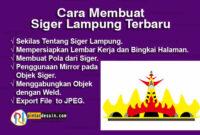 Cara Membuat Siger Lampung Terbaru