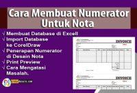 Cara Membuat Numerator Untuk Nota