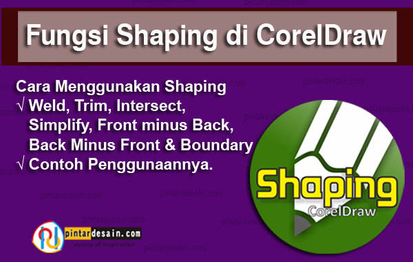 Fungsi Shaping di CorelDraw