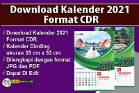 Download Kalender 2021 Format CDR